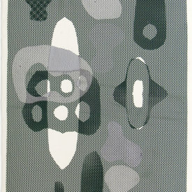 """Untitled"", 2010. Monotype on fabric and paper. 22"" x 15""."