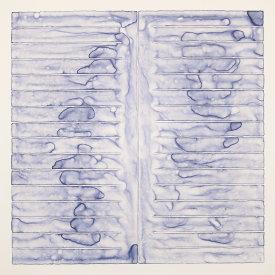 """Flow Chart #1"", 2013. Monotype. Image: 16"" x 16"", paper: 20"" x 20""."