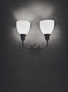 """Sconce II"", 2016. Photogravure, edition of 12. Image: 12"" x 8"", paper: 18"" x 14""."