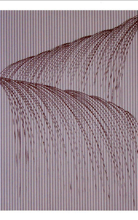 """""""Waterfall l"""", 2008. 2-color etching printed in cool gray and warm black. Image size: 31.5"""" x 23"""", paper size: 37.5"""" x 29"""". Edition of 20."""