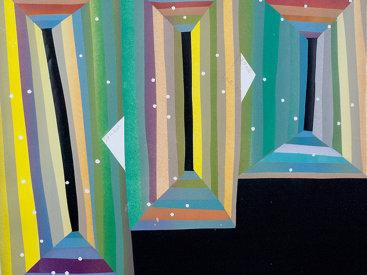 """Sprawl Song"", 2019. Lithograph, 15"" x 17""."