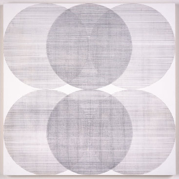 """Untitled III"", 2018. Silverpoint on gessoed panel. 20"" x 20"""