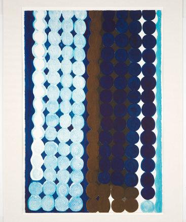 """Malibu (#7 Blue + Brown)"", 1997. Monotype, 30"" x 22""."