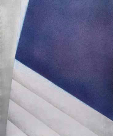 """""""Replay 3"""", 2020. Intaglio, acrylic, graphite and colored pencil. 29 3/4"""" x 22 1/4""""."""
