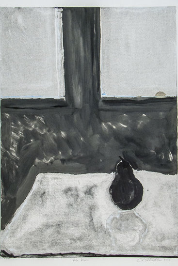 """Pale Pear"", 2005. Monotype. Image: 24"" x 17"", paper: 30"" x 22""."