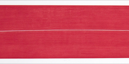 """""""Pale/2"""", 2002. Etching, edition of 25. Image: 7 ¼"""" x 39"""", paper: 10 ¼"""" x 44"""""""