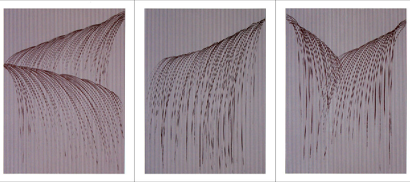 """Waterfall"", 2008. Suite of three etchings. Image sizes: 31 1/2"" x 23"", paper sizes: 37 1/2"" x 29"" . Editions of 20."