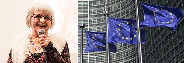 Ängeln på Malmskillnadsgatan till Europaparlamentet på EU:s Anti Trafficking Dag