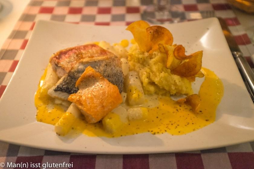 Fischvariation mit Schwarzwurzeln und Kartoffelstampf