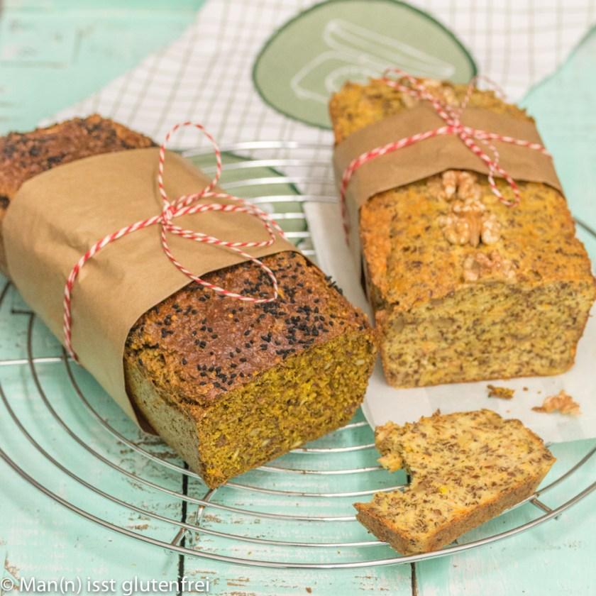 Low-Carb Brot mit Zucchini und Möhre