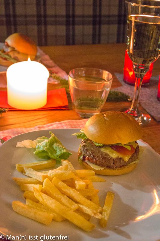 Cheeseburger glutenfrei