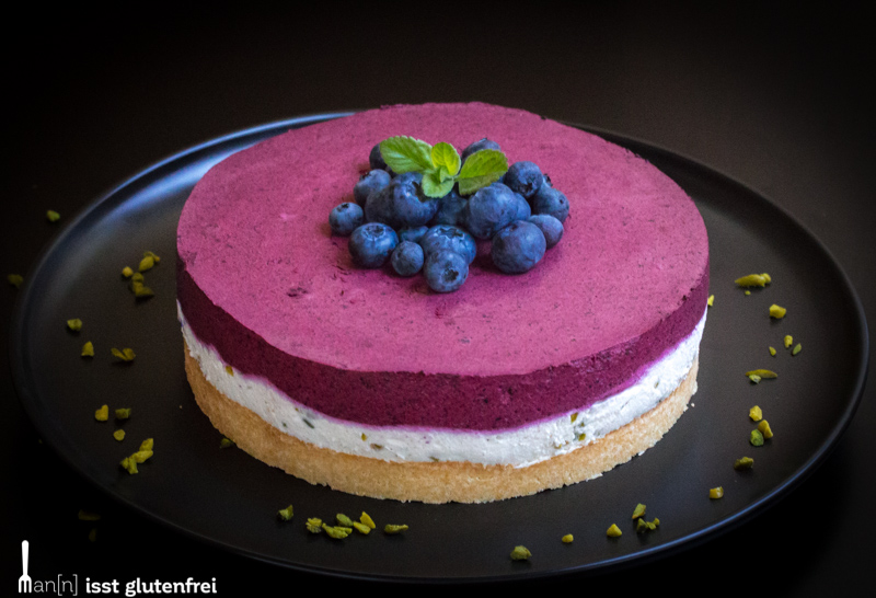 Low-Carb Quark Heidelbeer Torte