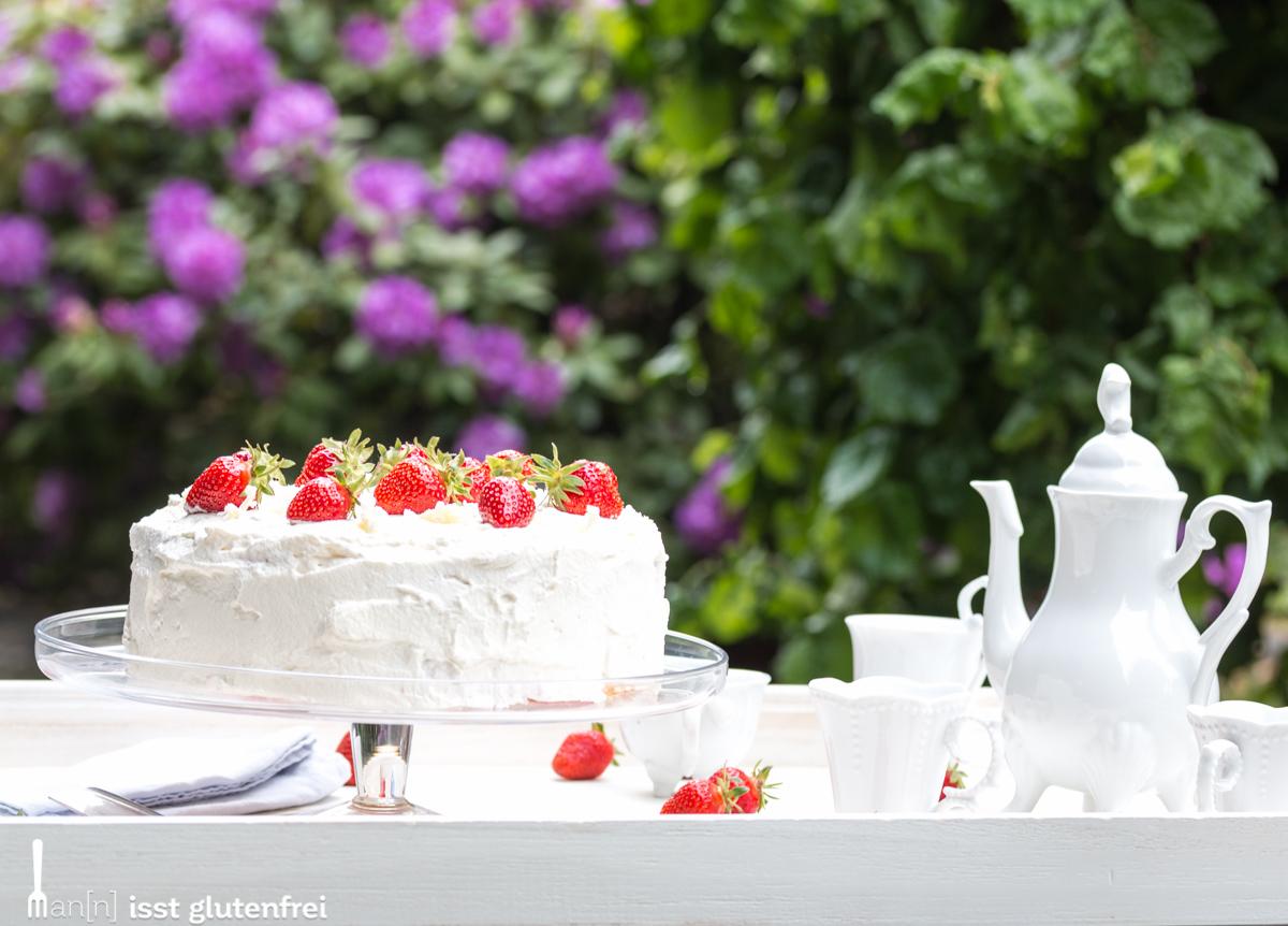 Erdbeer Quark Torte - glutenfrei und laktosefrei