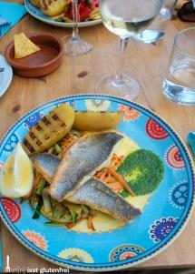 Seebarsch mit Grillgemüse und Pesto