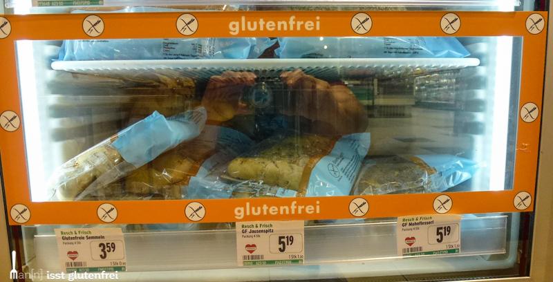 Supermarkt Merkur glutenfreie Produkte
