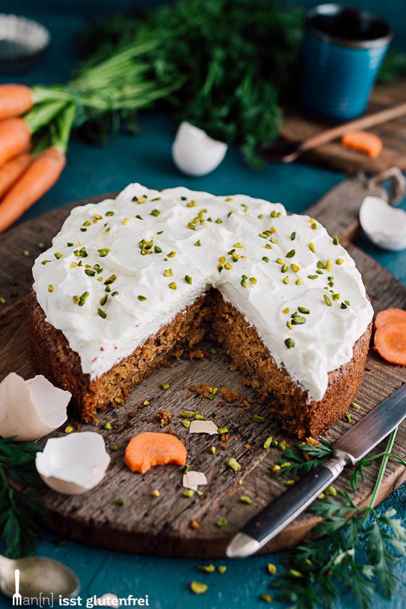 Karottenkuchen glutenfrei und laktosefrei