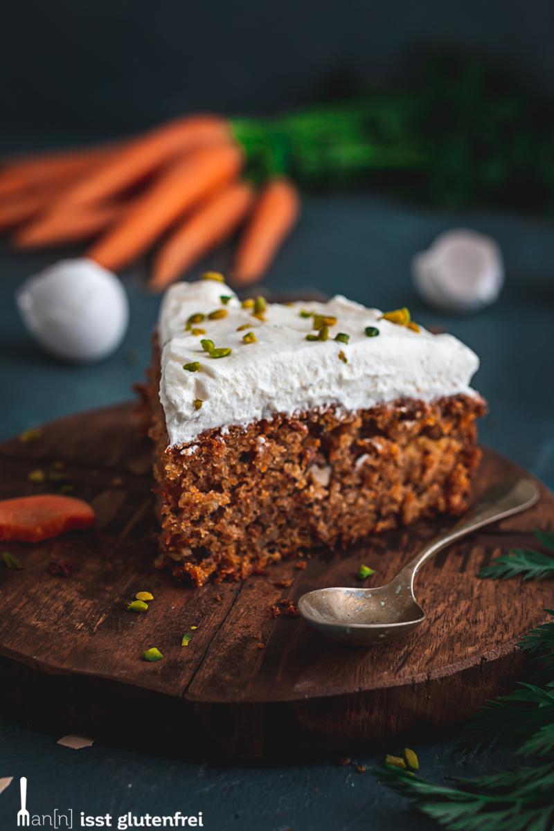Karottenkuchen Stück