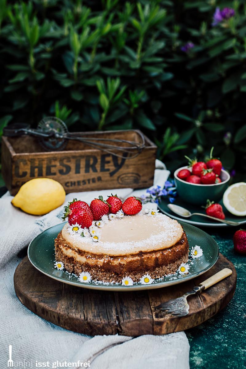 Low Carb Kokos Lemon Cheesecake