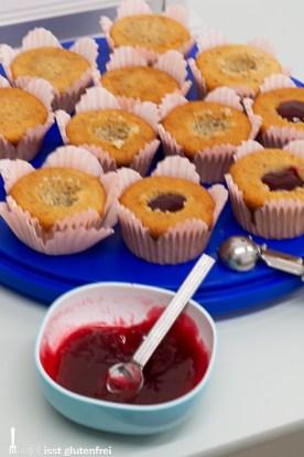 Füllen der Cupcakes