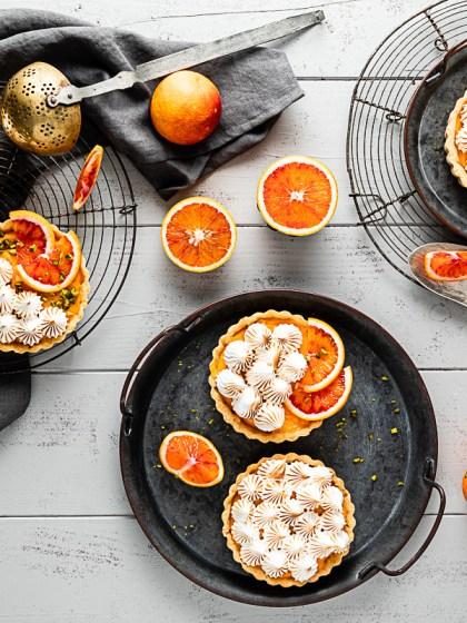 Blutorangen Baiser Tartelettes - glutenfrei und laktosefrei