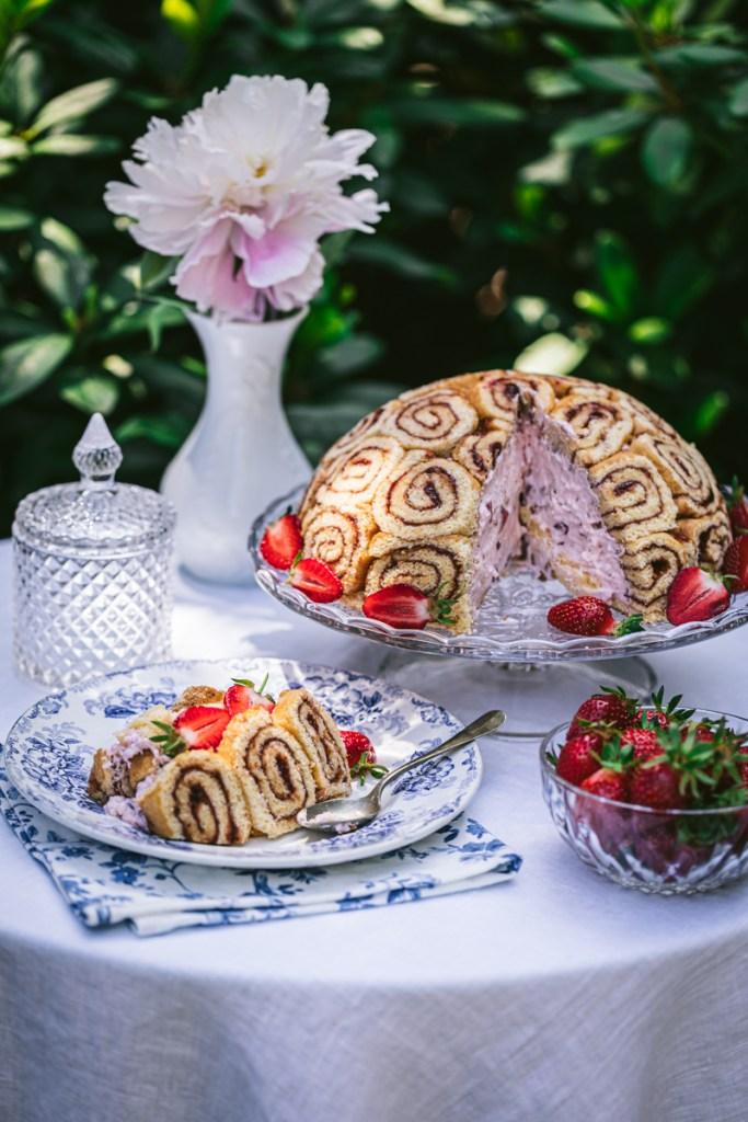 Erdbeer Charlotte - glutenfrei und laktosefrei
