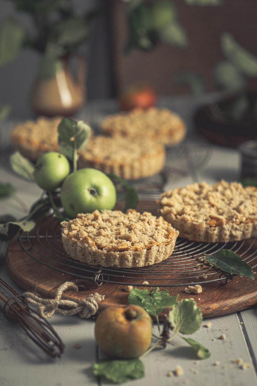 Apfel Streusel Tartelettes mit Salzkaramell - glutenfrei und laktosefrei
