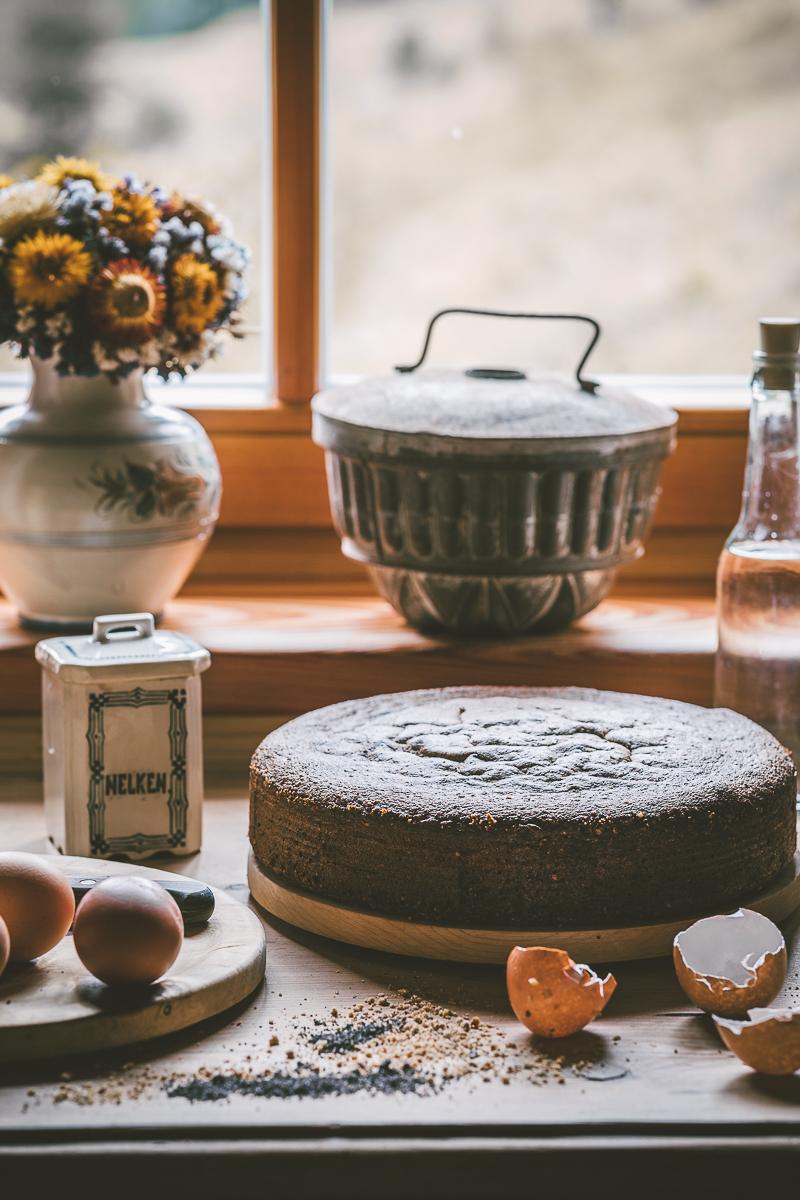 Mohn Nuss Torte - glutenfrei