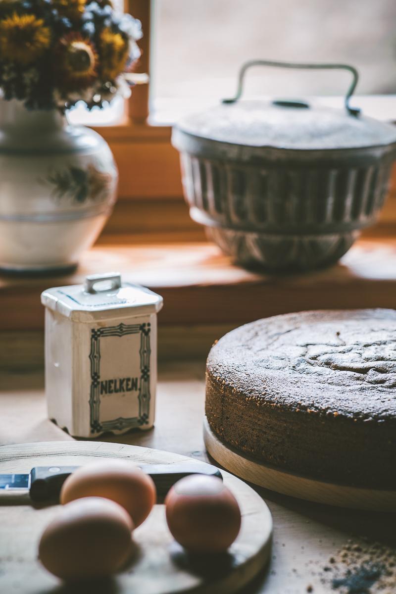 Mohn Nuss Torte - ohne Mehl