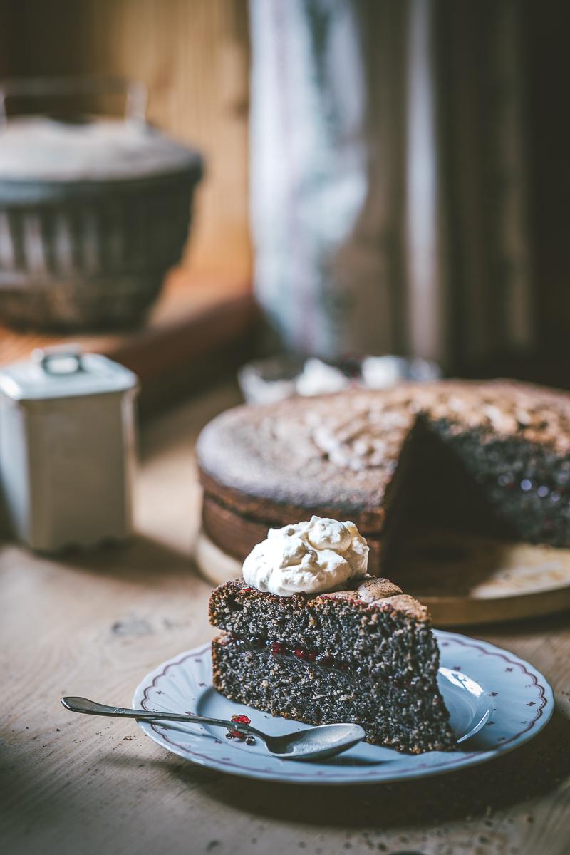 Mohn Nuss Torte - laktosefrei