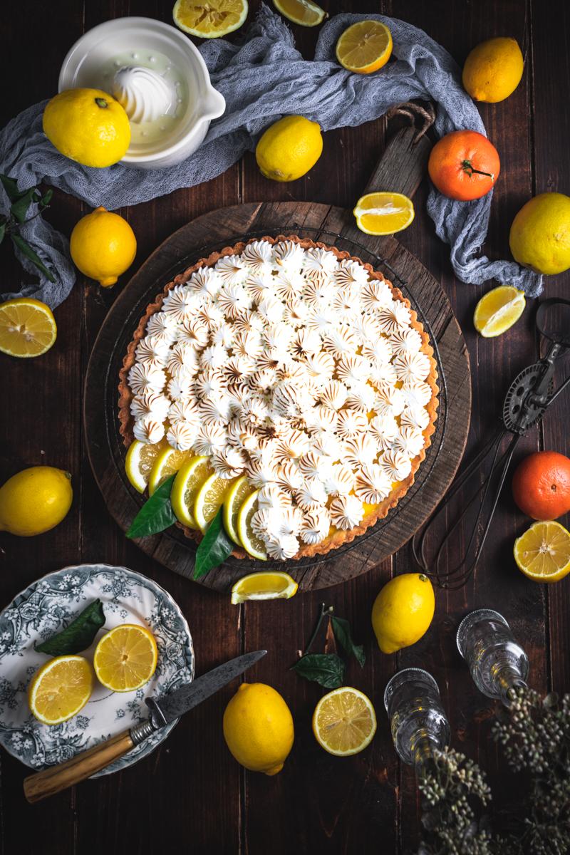 Zitronen Baiser Tarte - glutenfrei und laktosefrei