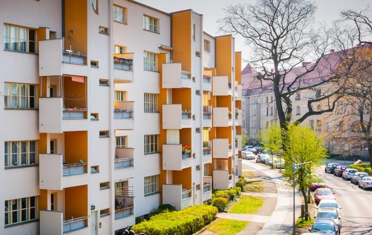 """Siemensstadt, UNSCO-Welterbe """"Berliner Moderne"""", Hans Scharoun, westl. Zeile."""