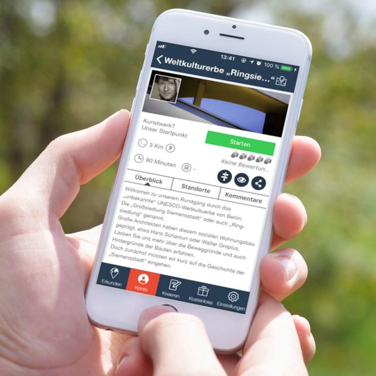 Bild eines Smart Phone mit App