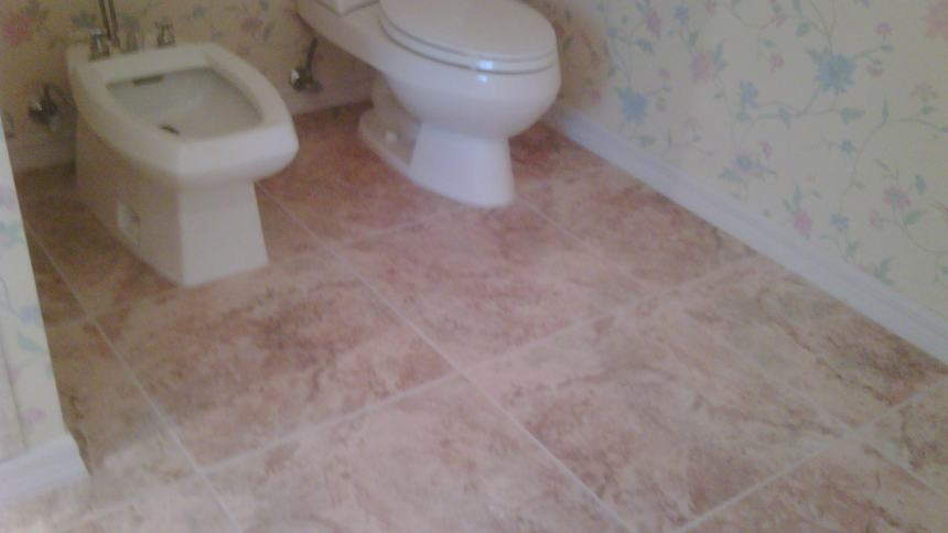 Picture of tiled bathroom