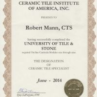 Certificite for Ceramic tile
