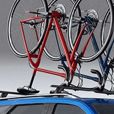 Rieles de Techo   De apariencia sólida, permiten acomodar sobre el vehículo hasta 75 kg de peso. Disponibles con barras cruzadas de refuerzo para carga más pesada, según versión.