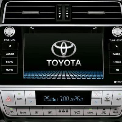 """Sistema de Audio   Envolvente sistema de audio con 6 parlantes y pantalla táctil de 8"""". AM/FM, CD, MP3, WMA, USB, AUX y Bluetooth. Disponible con 9 parlantes en la versión VX."""