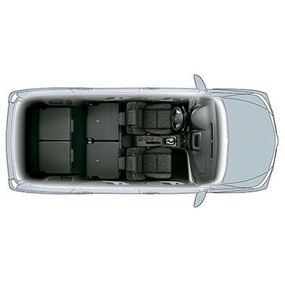Asientos Abatibles.   Ajusta su espacio de carga a tus necesidades. Sus asientos son fácilmente configurables: su 2da fila se desliza y ambas filas posteriores son abatibles 50/50.