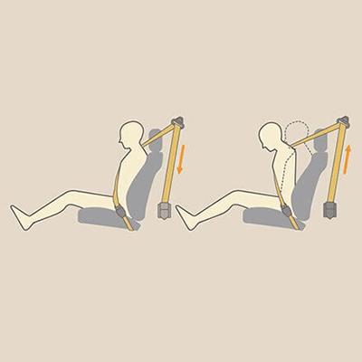 Cinturones de Seguridad   Cinturones para 5 ocupantes. Delanteros: 2 de 3 puntos con pretensores y limitadores de fuerza. Posteriores: 3 de 3 puntos.