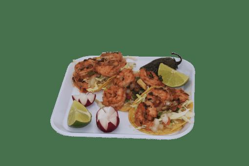 Tacos de Camarones $6.00