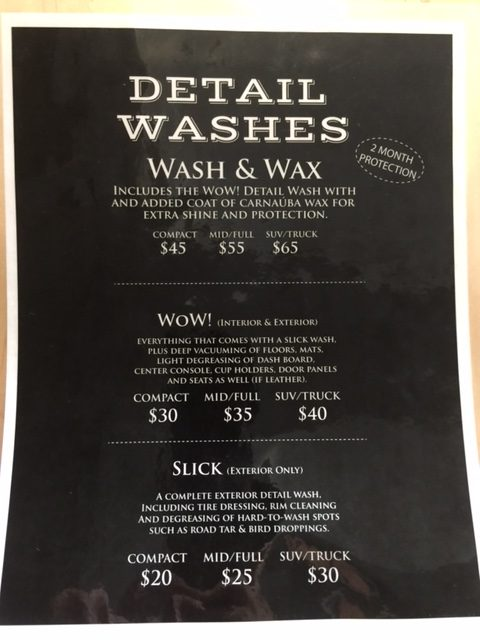 We Waterless Wash Options