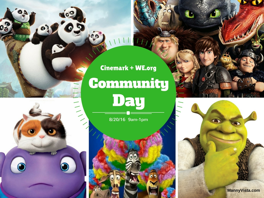 Cinemark Free Movie for Community Day 8/20/16