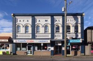 Duncan Masonic Temple, 163 Canada Avenue, Duncan, B.C. (photo: Manoah Lodge No. 141 Webmaster)