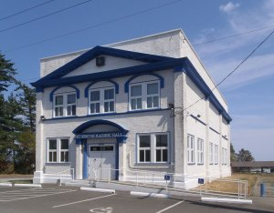 Mt. Newton Masonic Hall, 8105 Derrinberg Road, Central Saanich (Saanichton), B.C. (photo: Manoah Lodge No. 141 Webmaster)