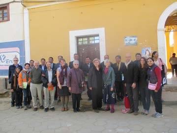Minnesota teachers arriving in Arani, Bolivia.