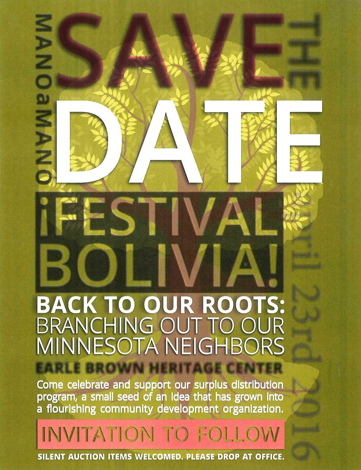 Save the Date – Mano a Mano's 'Back to Our Roots' Event on April 23rd, 2016