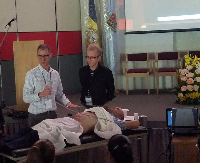 Dan Texidor, PA-C, teaching The Use of Ultrasound in Acute Care.
