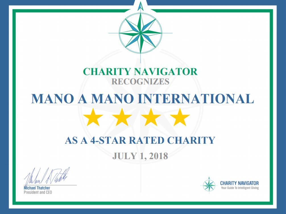 Mano a Mano Receives 5th Consecutive 4-Star Rating from Charity Navigator