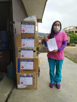 Our counterpart organization Mano a Mano Internacional has made donations of personal protective equipment (PPE) and medical supplies to 33 organizations throughout Bolivia in direct support of their COVID-19 emergency response efforts.