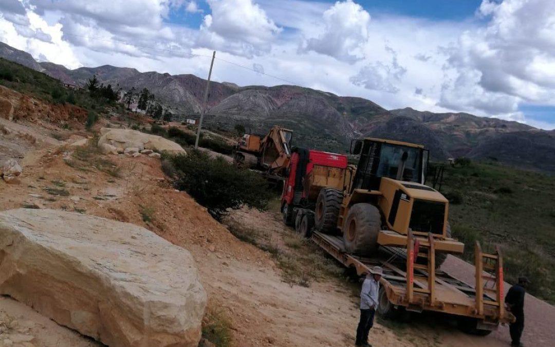Transporting Heavy Equipment to Improve a Runway in Toro Toro, Bolivia