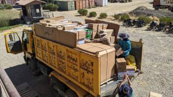 The first of two trucks for Oruro (1)